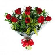Buquê de Rosas Vermelhas Classic - 12 Rosas
