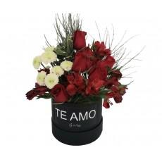 Box Floral - Te Amo e Rosas Vermelhas