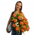Buque com 24 Rosas Coral