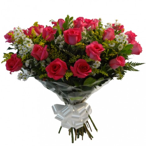 Buque com 18 Rosas Pink