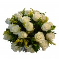 Buque com 24 Rosas Brancas