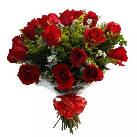 Buquê de Rosas Vermelhas Classic - 24 Rosas