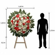 Coroa de Flores Premium – Média (1,50 x 1,40)