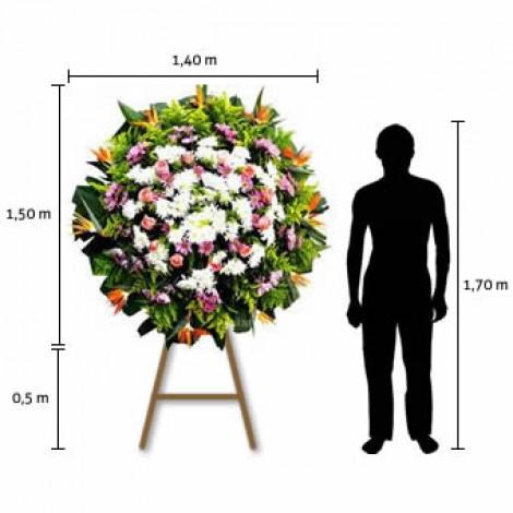 Coroa de Flores Standard – Média (1,50 x 1,40)