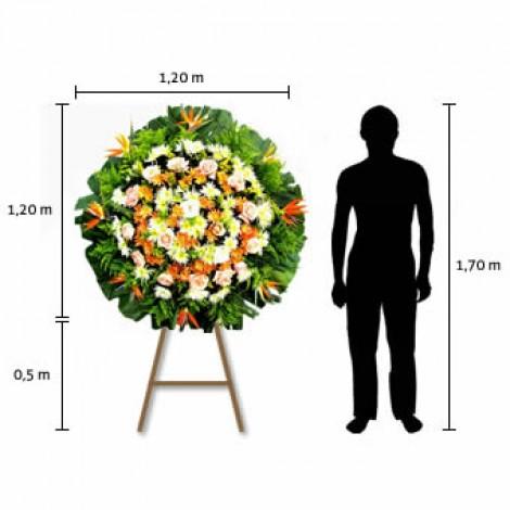 Coroa de Flores Premium – Pequena (1,20 x 1,20)