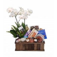 Cesta Magnífica - Café da Manhã com Orquídea