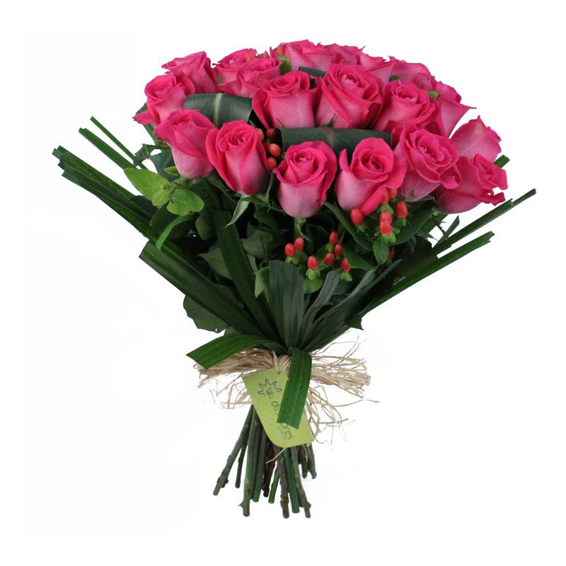 Buquê (ou bouquet) de rosas colombianas cor de rosa - entrega em BH
